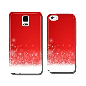 Background snow red cell phone cover case iPhone5