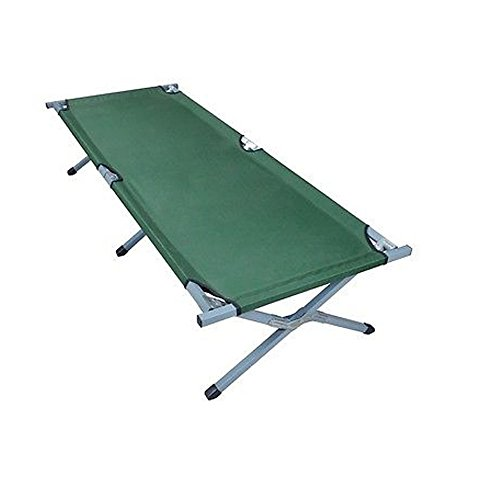 Olymstore Folding Camping Cot,Outdoor Portable Camp Bed, Hiking Army Military Style Sleeping Cots with Carry Bag - Aluminum Cot