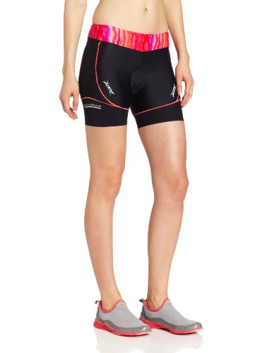 ZOOT SPORTS Women's Performance Tri 6-Inch Short (Black/Fire Print, X-Small)