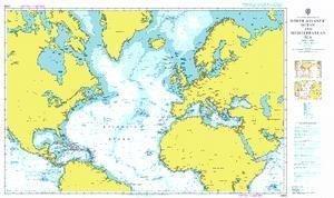Ba Diagramm 4004  A Planung Diagramm für The North Atlantik und Mittelmeer von UNITED KINGDOM Hydrographic Büro