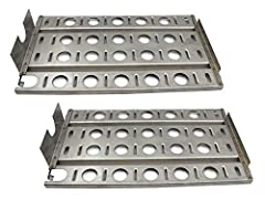 """Hongso SPB571 (2-pack) Stainless Steel BBQ Gas Grill Heat Plate, Heat Shield for Lynx L27 Models. Dimensions: 16 7/8"""" x 9 1/2"""" Material: Stainless Steel; Original Part Numbers: L10156, 210L4Y, 80006. ➤Fits Lynx Models CS30, L27, L30, L30PSP, ..."""