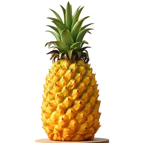 - SAIBANG Realistic Artificial Pineapple Fake Plastic Fruits for Display Yellow Normal Large Size High Simulation Dummy Studio Photo Prop DIY Decoration Accessories Food Toys Kitchen Room Décor