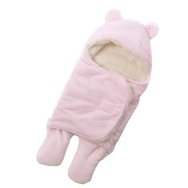 Recién Nacidos Bebé Cálido Manta Saco De Dormir De Forma De Oreja De Oso Color Sólido Swaddle: Amazon.es: Ropa y accesorios