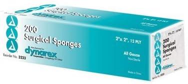 B000TVL4RI Dynarex 3223 Gauze Sponge N/S 2x2 12 Ply 40/200 (8M)/Case 41MvSjTMRZL.