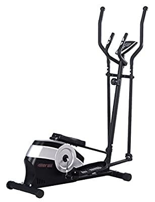 Merax Magnetic Elliptical Trainer Machine(Grey, Large)