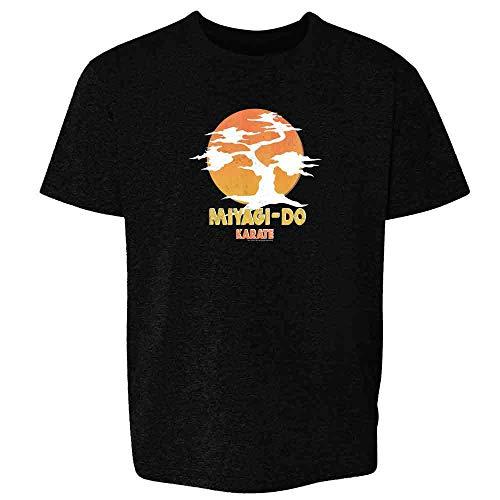 Karate Kid Miyagi-Do Dojo Bonsai Sunset Costume Black M Youth Kids T-Shirt]()
