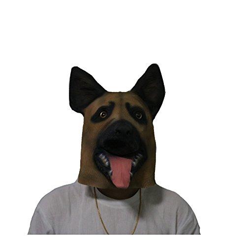 sirwolf Novelty Halloween Party Latex Animal Dog Head Mask s