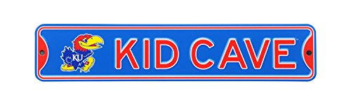 Authentic Street Signs NCAA College Officially Licensed STEEL Kid Cave Sign-Decor for sports fan bed room! ... (Kansas -