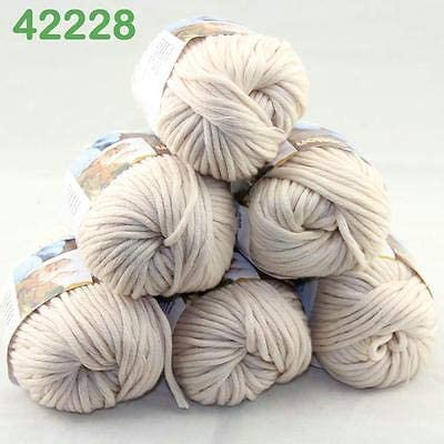 FidgetFidget - Ovillo de Lana Gruesa de algodón para Tejer a Mano (28 6 madejas x 50 g): Amazon.es: Hogar