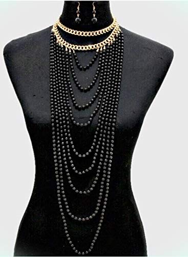 long black pearl necklace