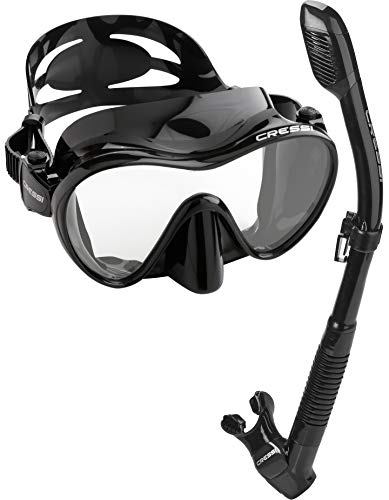 Cressi Scuba Diving Snorkeling Kit - Freediving Mask & Dry Snorkel | F1 & Supernova Dry: Designed in Italy