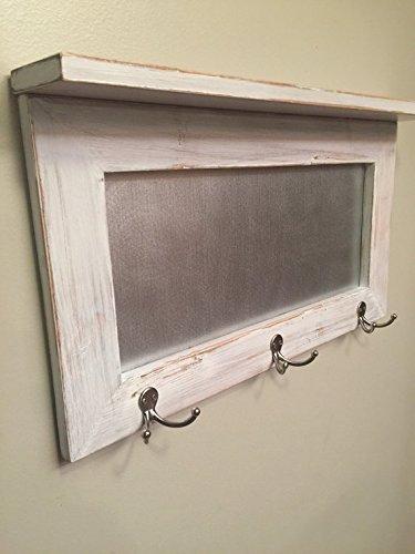 entryway shelf, coat rack, galvanized metal, wood shelf, metal shelf, Rustic Shelf, chippy paint by Country Corner Goods (Image #3)