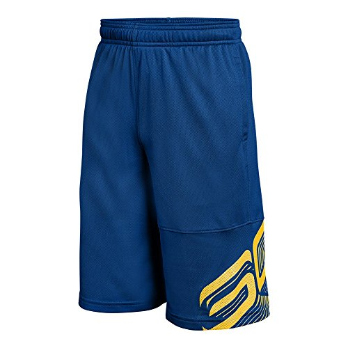 Under Armour Boys' SC30 Shorts, Royal (400)/Taxi, Youth ()