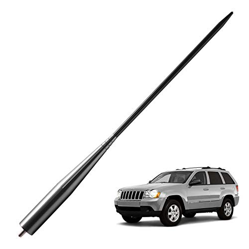 3.2 inches-Titanium JAPower Antenna Replacement Fit for Dodge RAM 1500 2012-2018 Vehicles