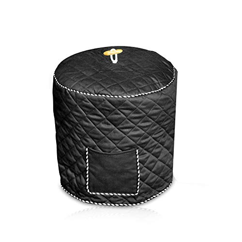 Decorative Cover for Electric Pressure Cookers Has Pocket for Accessories - Fits 6QT Instant Pot (Black)