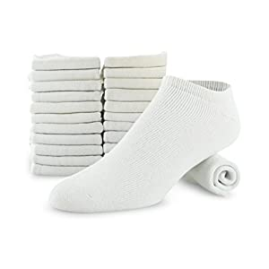 Men Athletic Low Cut Sock Made For Top National Brand 12 Or 6 Pack Shoe Size 8-12 Sock Size 10-13 (12)