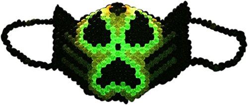Original From Kandi Gear - Glow in the Dark Radioactive Kandi Mask, Rave -