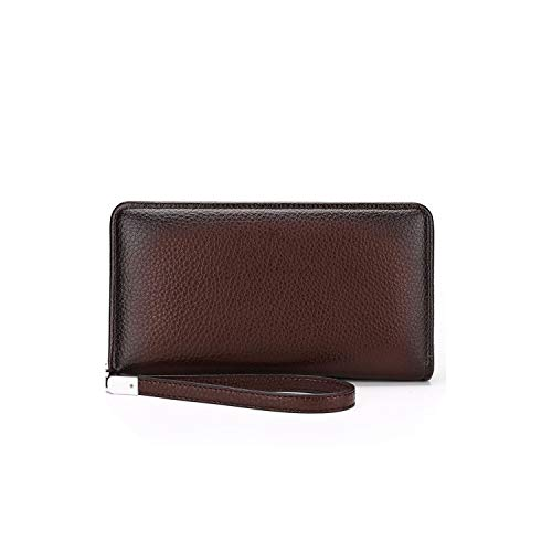 Vuitton Organizer Zippy Louis (Male Leather Purse Men's Clutch Wallets Handy Bags Business Carteras Mujer Wallets Men Black Brown,brown)