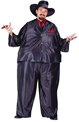 Mens 1920s Fat Cat Tony Gangster Great Gatsby 20's Fancy Dress Costume Outfit (One Size) by Fancy Me