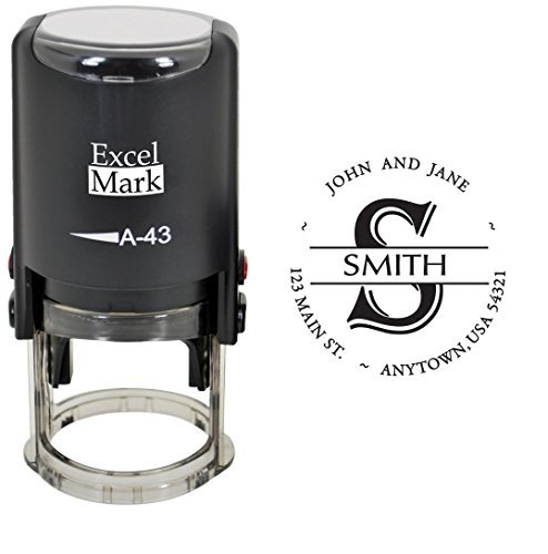 ExcelMark Custom Self-Inking Monogram Address Stamp]()
