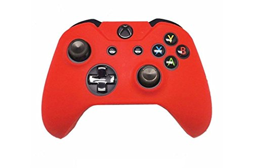 Price comparison product image Clearance !  Ninasill  Exclusive Silicone Rubber Skin Case Gel Protective Cover For Xbox One Wireless Controller (Red)