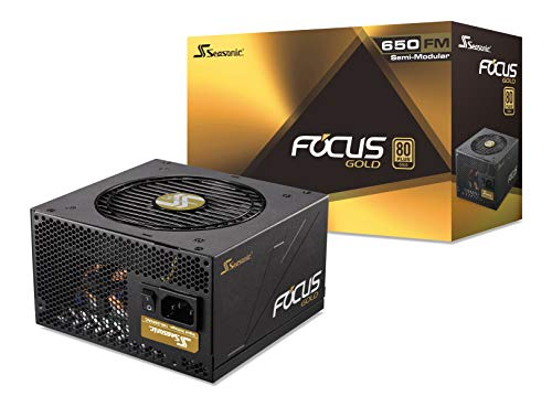Seasonic FOCUS 650 Gold SSR-650FM 650W 80+ Gold ATX12V & EPS12V Semi-Modular  7 Year Warranty Compact 140 mm Size Power Supply (Best 650 Watt Power Supply 2019)