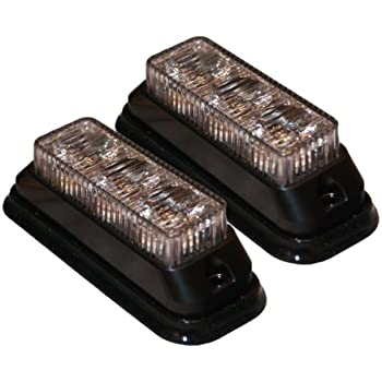 Amazon Com 2x Amber Led Surface Mount Strobe Lights Truck