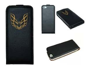 Funda de Cuero para un Apple iPhone 5 Pontiac Firebird