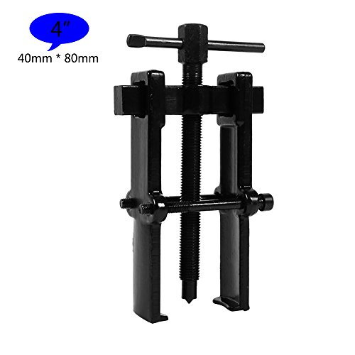 2 Jaw Bearing Puller Remover Forged Gear Removal Repair Tool for Motorcycle Car Auto Adjustable Range Carbon Steel Straight Type Black - 5 Sizes for Choice (4in-40×80mm) ()
