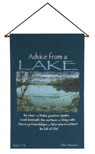Manual Your True Nature Wall Hanging, Advice from a Lake, 17 X 26-Inch by Manual Woodworker