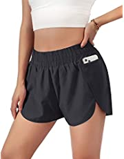 """Blooming Jelly Women's Quick-Dry Running Shorts Workout Sport Layer Active Shorts with Pockets 1.75"""""""