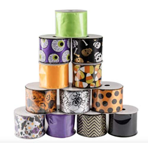 Wired Halloween Ribbon Assortment- Set of 12 by Nikki's Knick Knacks