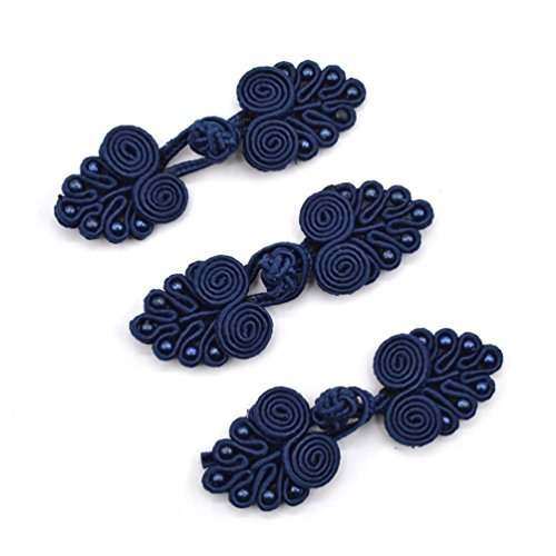 Lychee Chinese Frog Knot Closure Buttons Fastener Sewing Handmade DIY Bag Cloth 3 Pcs