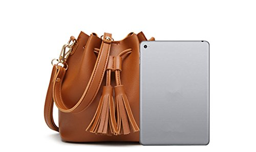 Ladies Pocket Life Green Drawstring Fashion Handbag Synthetic Daily Bags Perfect Tassel Design Leather Shopping Cross with Body Leather Tote Bag PU Work Shoulder Bag for Katech Women and dtqfFpfw