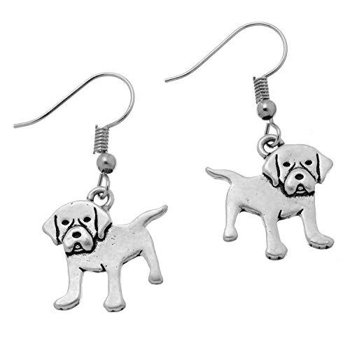 PammyJ Girls and Womens Labrador Retriever Dog Drop Earrings (Puppy Dangle Earrings)