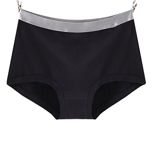 Mujer Pantalones De Tela De Algodón Cómoda Planos Ocasionales Bragas 2 Paquetes A4