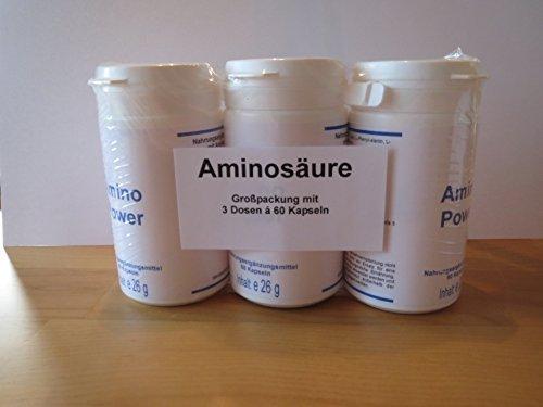 Aminosäure 3er Pack (3 Dosen a 60 Kapseln=180 Stück)