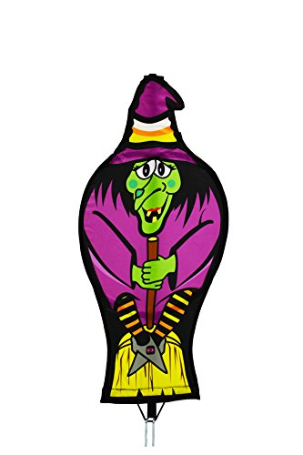 Garden Gawker 3 feet Tall Witch Holiday Yard Art