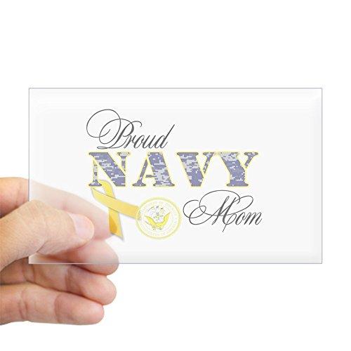 CafePress Proud Navy Mom Sticker (Rectangle) Rectangle Bumper Sticker Car Decal