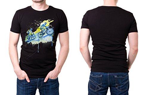 Radsport_V schwarzes modernes Herren T-Shirt mit stylischen Aufdruck