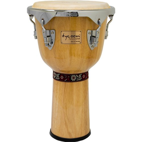 Tycoon Percussion 12 Inch Concerto Series Djembe - Natural Finish ()