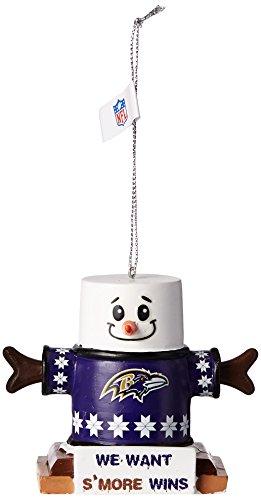 NFL Football Team Logo Smores Holiday Tree Ornament - Pick Team (Baltimore Ravens)
