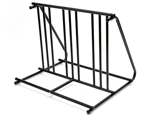 (TMS Hd Steel 1-6 Bikes Floor Mount Bicycle Park Storage Parking Rack Stand 2 3 4 5 )