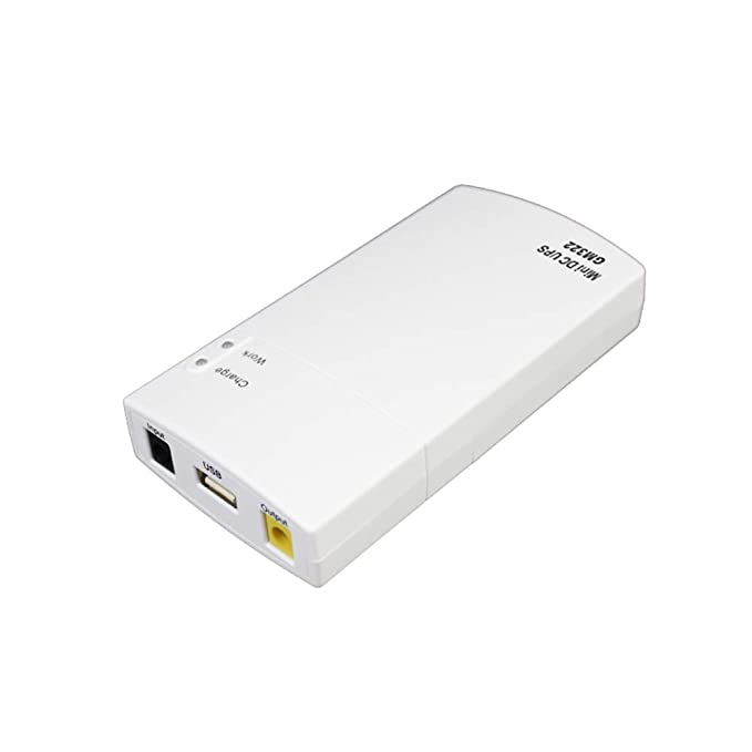 KKmoon GM322 Mini UPS Power Protection Charger 7800mAh DC Power Bank  Portable Power for 12V 2A Applications Protection White