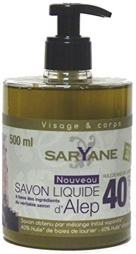 Aleppo Oliven- und Lorbeeröl Flüssigseife 500ml mit Spender/Pumpe - parfümfrei, (sehr) trockene, empfindliche, reife Haut