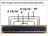 Armrest Pads, Padded, Full Length / 14'' Long, 1 Pair