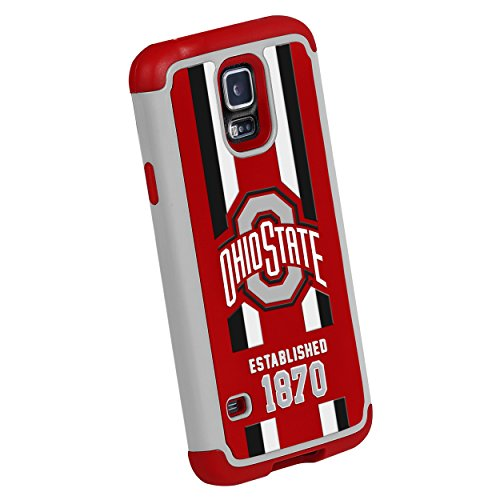 Forever Collectibles NCAA Ohio State Buckeyes Dual Hybrid TPU Galaxy S5 Rugged (Ohio State Buckeyes Cover)