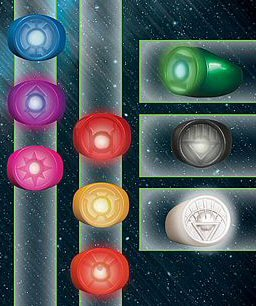 DC Comics Blackest Night: Power Ring Spectrum Set ()