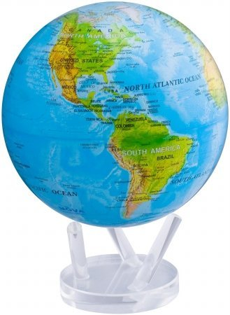 Blue Ocean Relief Map 8.5'' Rotating Mova Globe by TURTLETECH