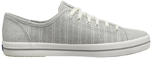 Keds Womens Kickstart Slub Stripe Fashion Sneaker Gray PuCcCtTTH